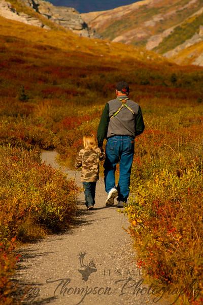 Grandpa Jim and Brecken - Denali - August 2011-7224