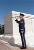 "MSgt Jari Villanueva sounds ""Taps"" at the tomb of the Unkowns at Arlington National Cemetery March 1999. <br /> (Photo By SSgt Bradley J Cerka)"
