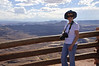 Jacki at Green River Overlook in Canyonlands National Park