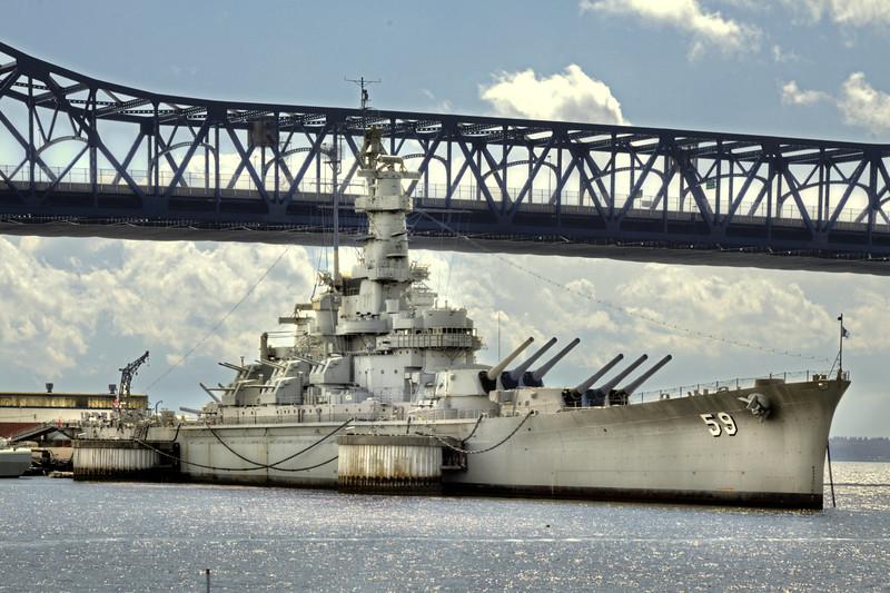 USS Massachusetts @ Fall River, Mass.