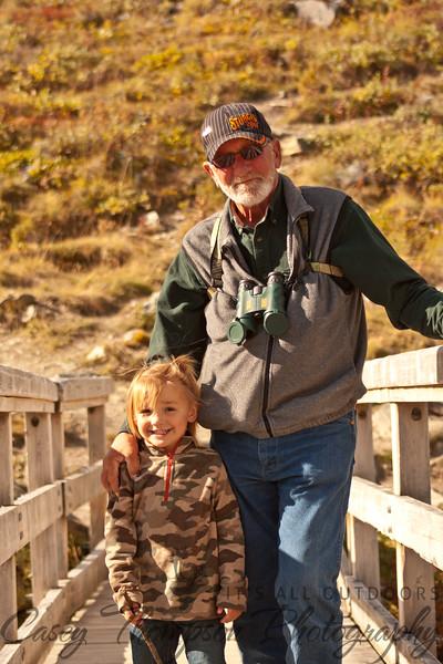 Dad and Brecken Savage River Lower Bridge-7243