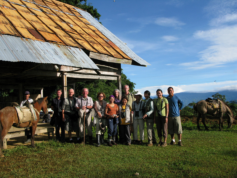 Here's the group in front of the lodge where we would see the Bukidnon Woodcock.