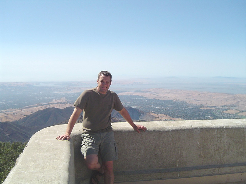 Me taking in the view at the top of Mt. Diablo near Danville, CA in June of 07.