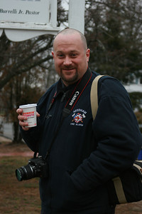 Taken at East Bridgewater Funeral for Deputy Chief Fairburn. Photo by Pat Travers. (NEFIREPHOTO.COM) Coffee was needed that morning, long night in the FAO.