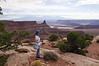 Jacki Looks at the Canyon in Dead Horse Point State Park