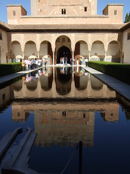 Patio de los Arrayanes, Alhambra, Granada, Andalucía<br /> Handheld, ISO100, shot at the wide end of zoom range (36mm equivalent).  No post-processing.