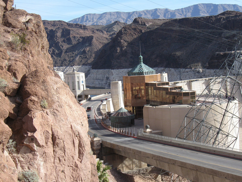 HOOVER DAM AND OBSERVATION TOUR  TAKEN FROM NEW PARKING AREA  VIEW LOOKING NORTH TOWARDS DAM