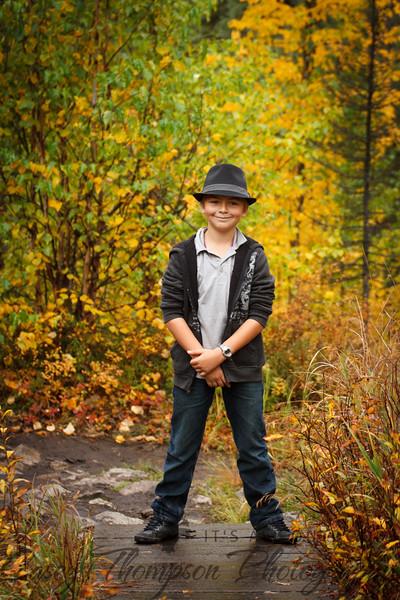 Brendan hiking in style.