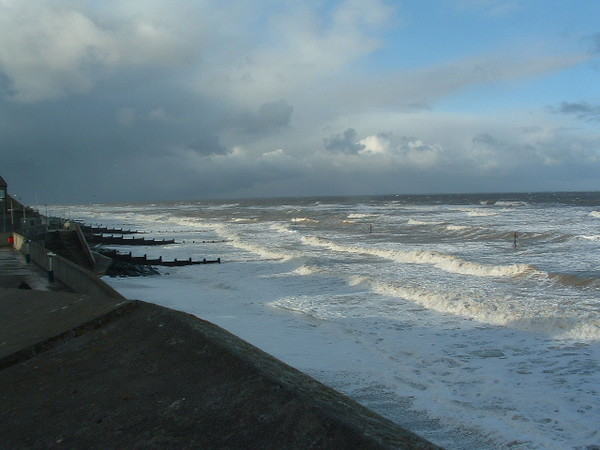 Sheringham seafront - wet and windy - but nice !