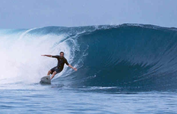 Fantastic left called Afulu on Nias off the coast of Sumatra