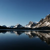 Bow Lake & Mt. Crowfoot from Num ti Jah Lodge.