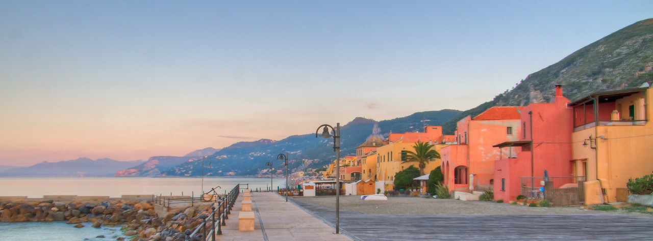 The old fishing village turned resort town, Varigotti, Liguria, Italia, taken at dawn.
