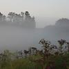 Grailville in Loveland in the early morning fog.