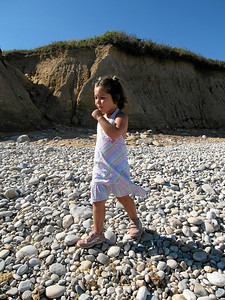 Anika enjoys a pop on Montauk Pt (I), Age 3, Montauk Pt, New York, Summer 2007