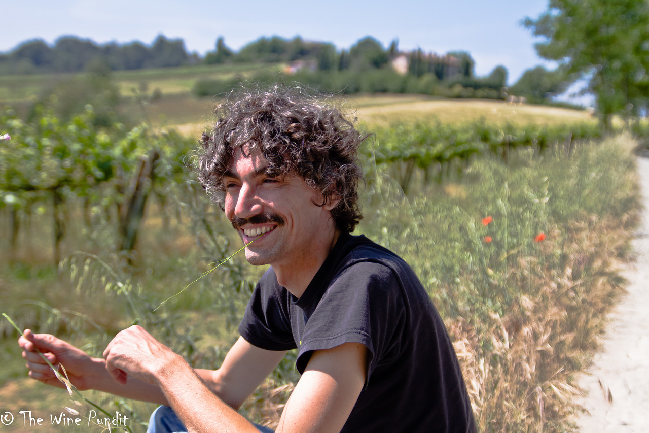 Enjoying a fine summer day in the winegrowing region of Emilia-Romagna with my friend Enrico Fontana