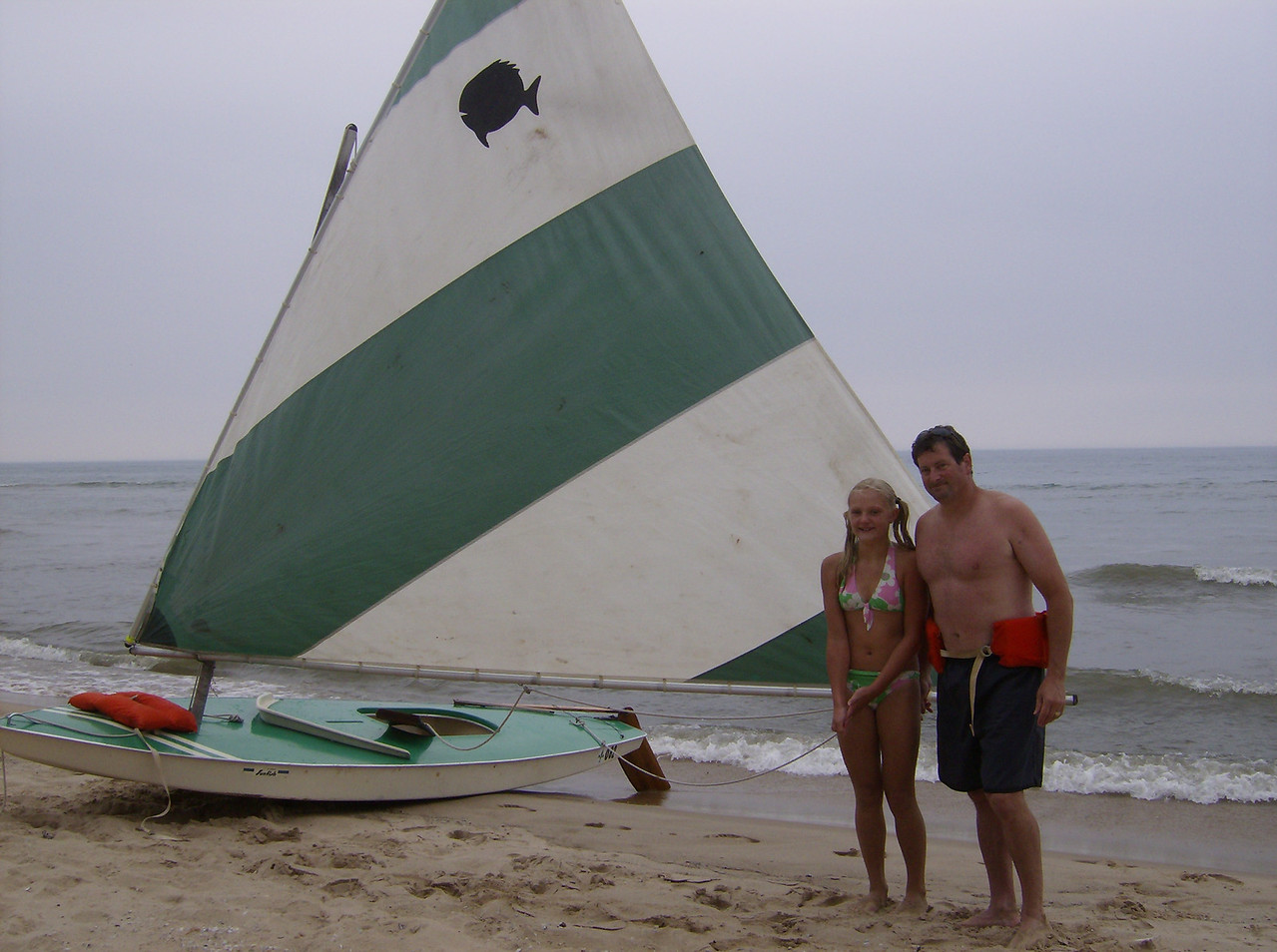 Michigan and the 1964 Sunfish, still in use! 2007.
