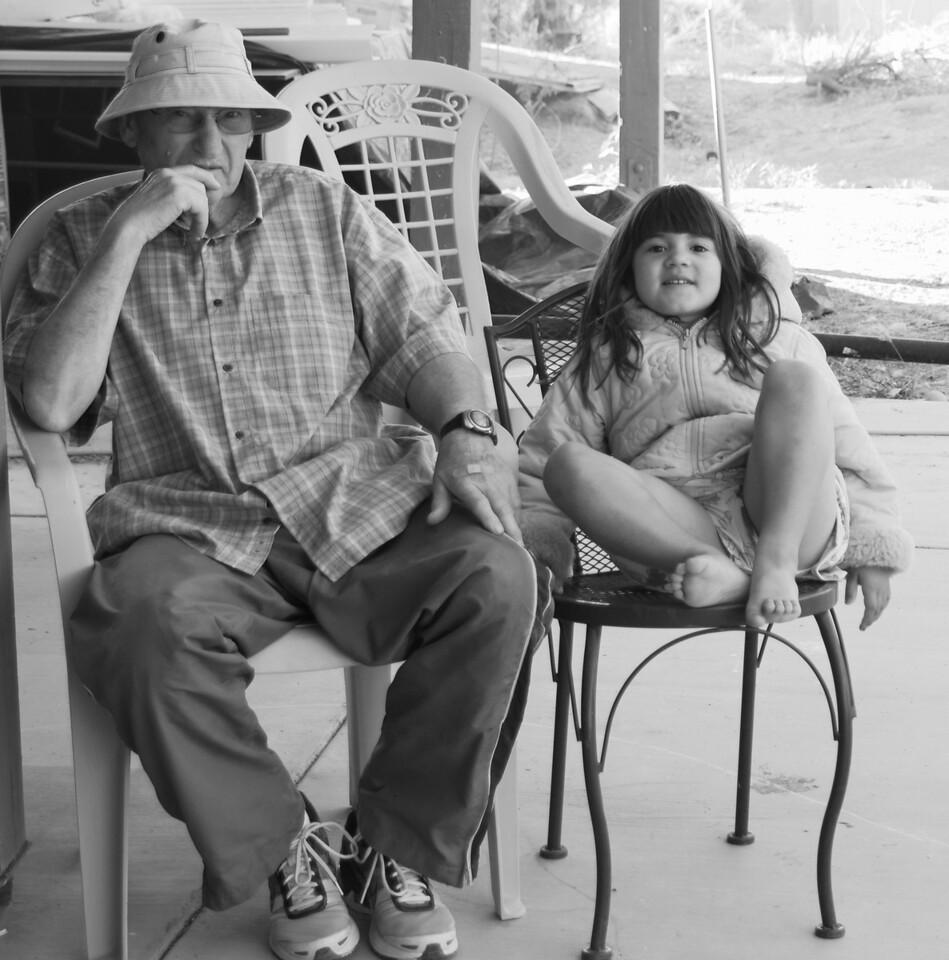grandpa and grace hangin