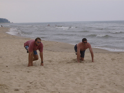 Roger Baker and Myself on the tradition sprint course, Pier Cove Michigan. I won easily ;-). 2007