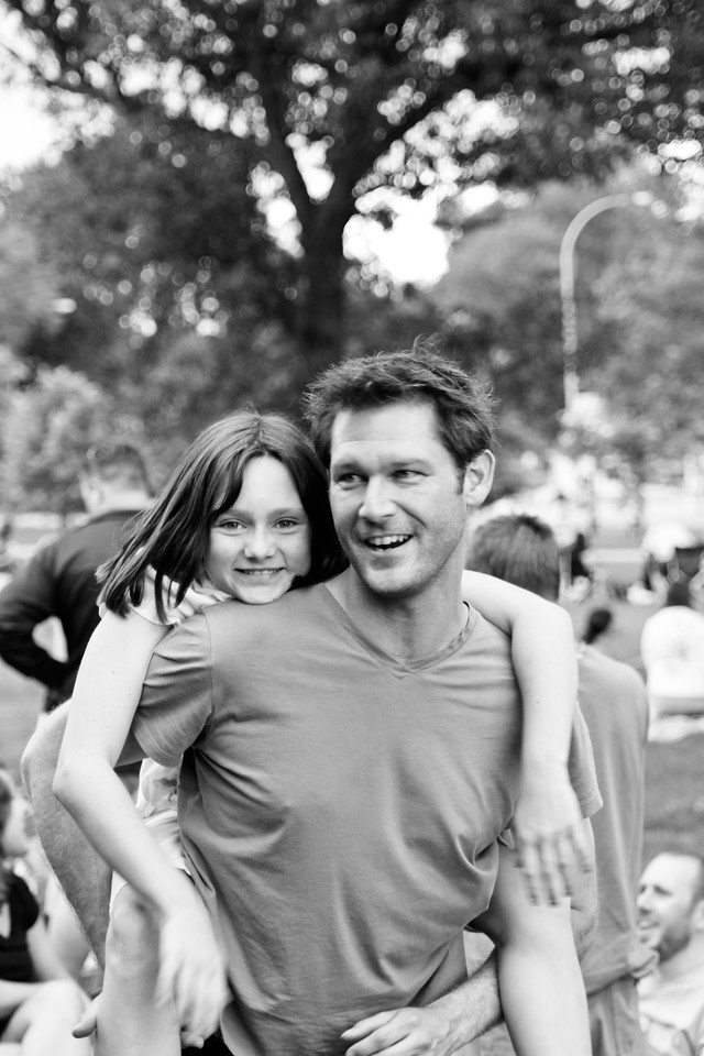 our daughter Rachael having some fun with our friend Adrian at City Park, Denver