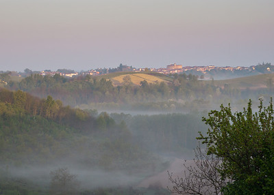 Sunrise in Ruchè country, Castagnole Monferrato