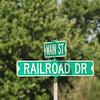 Rail Road street sign