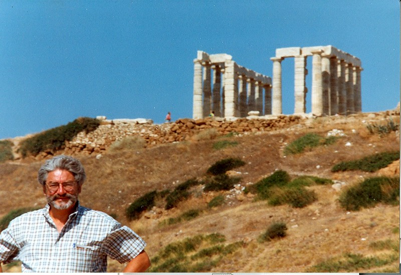From Ron's 'Greek' period, visiting relatives in Athens, here at the temple to Poseidon-1998