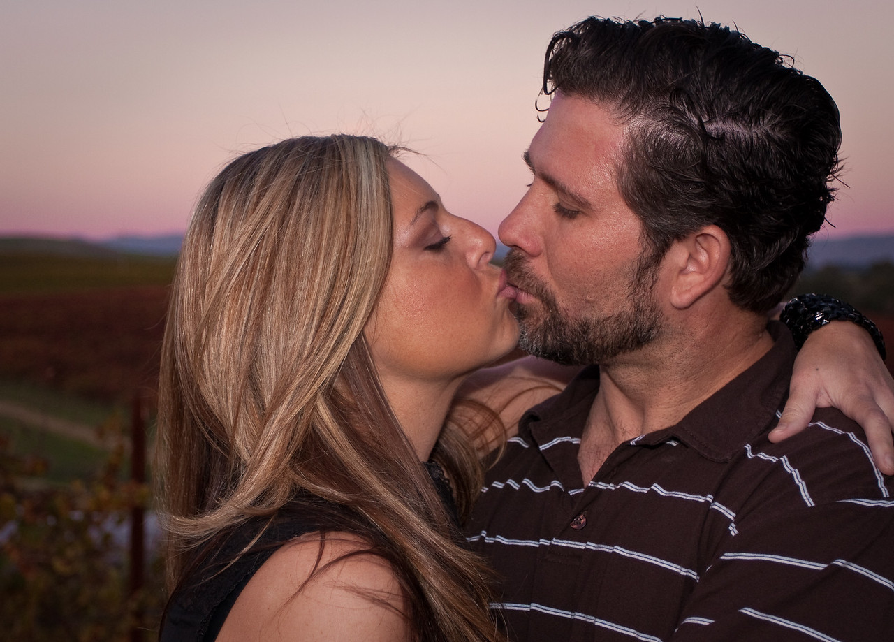 Leslie took this photo of my wife and I at Domain Carneros in Napa, Ca. We had a great time photographing Leslie, Sean, and Drea..I think Leslie has the skills of a photographer after having reviewed this shot!!!