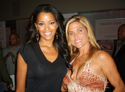 Claudia Jordan (from Deal or No Deal) & I at Paramount Studio Party