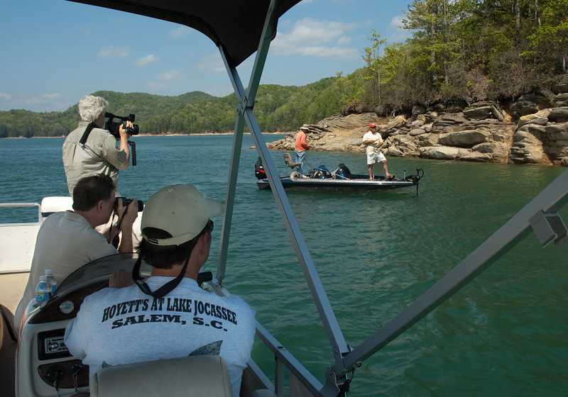 "Shooting for ""Experience Oconee"" on Lake Jocassee"