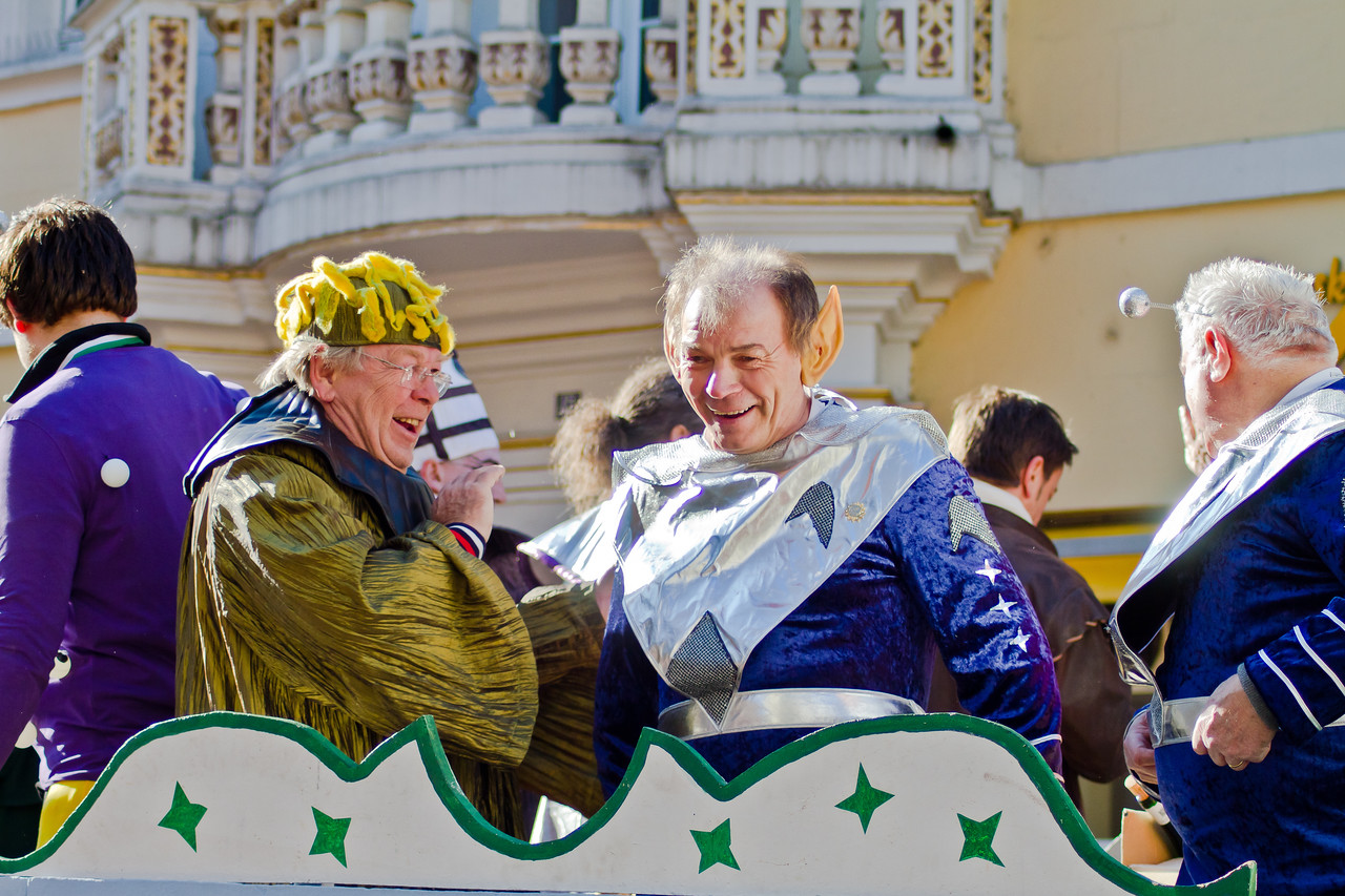 Colorful costumes, plenty of music and dancing, plenty of wine and beer, that's Carnivale in Trier (Mosel), Germany, 2011. After the parades filled with colorful characters and floats, people take time for a rest, then it's back out to the after-parade parties in the local beer halls. The Germans can dance