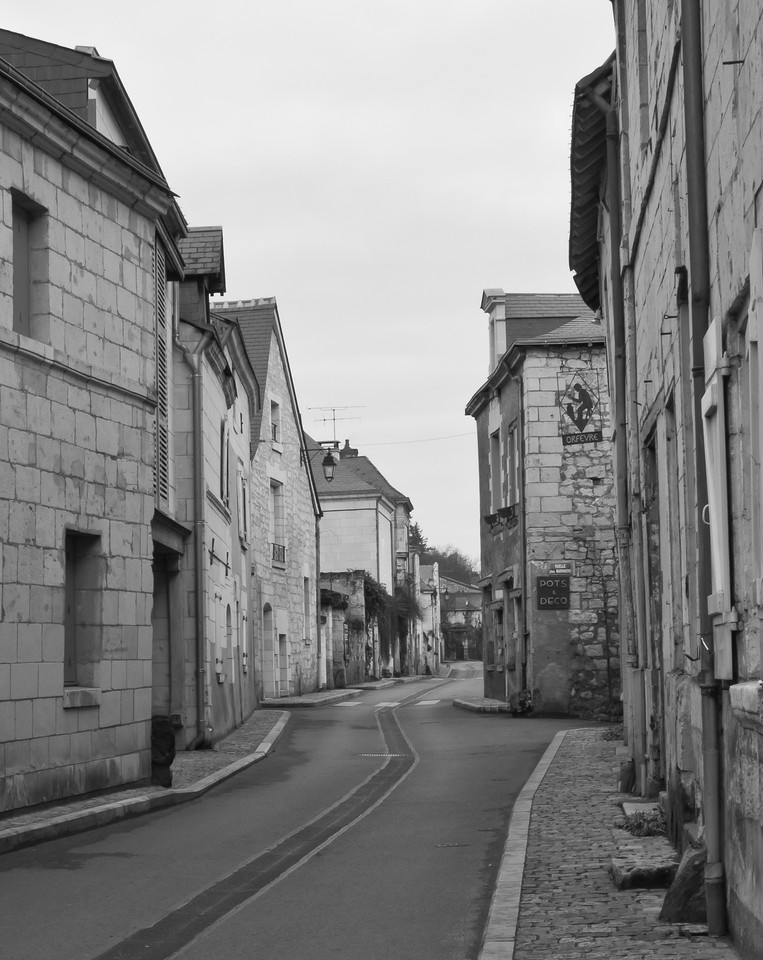 French village_typical main road