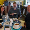 Spud Hilton of the San Francisco Chronicle took this photo of Jen Leo, Gary Arndt and I on the occasion of the first This Week in Travel show recorded with the 3 of us in the same room.