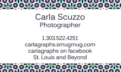 Carlagraphs Business Card Back