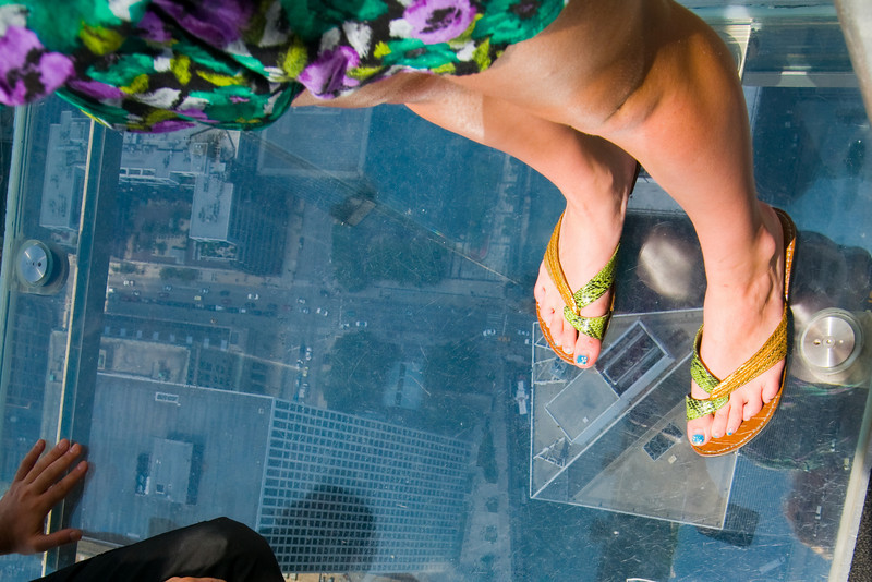 JJ' feet on the Sears Tower Ledge Aug 2010