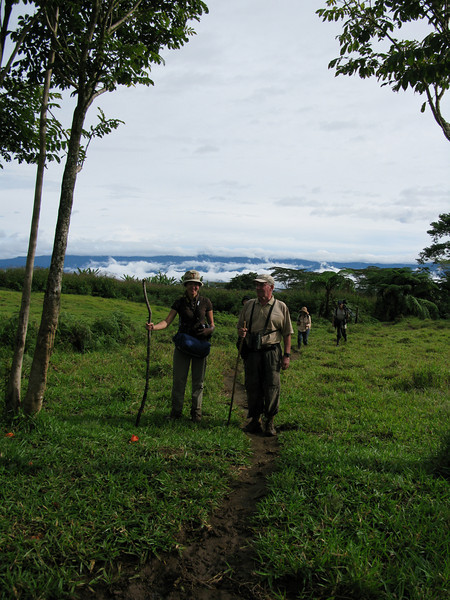 Mt. Kitanglad, January 2010<br /> <br /> Morning, with Tim Fisher and the sea of clouds in the background.