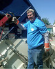 Spring, 2011. Riding on a trash truck during LOVE Wichita cleanup project.