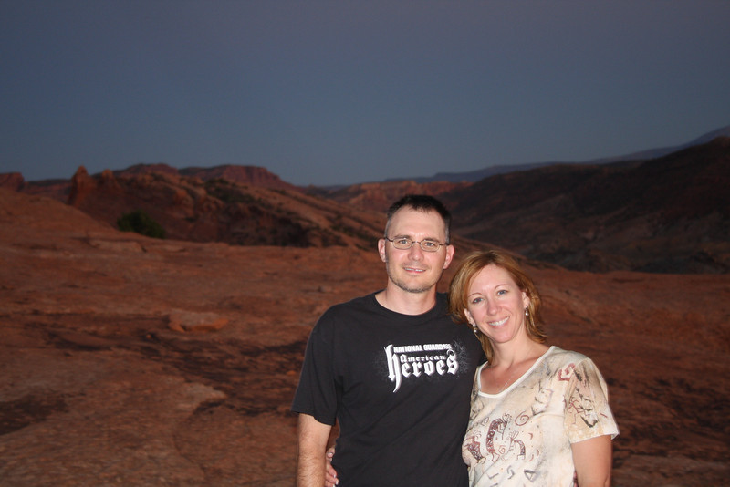 Moab, UT On the climb to Delicate Arch