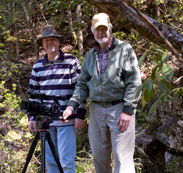 Bill Koepnick and Gene Borman at Yellow Branch Falls