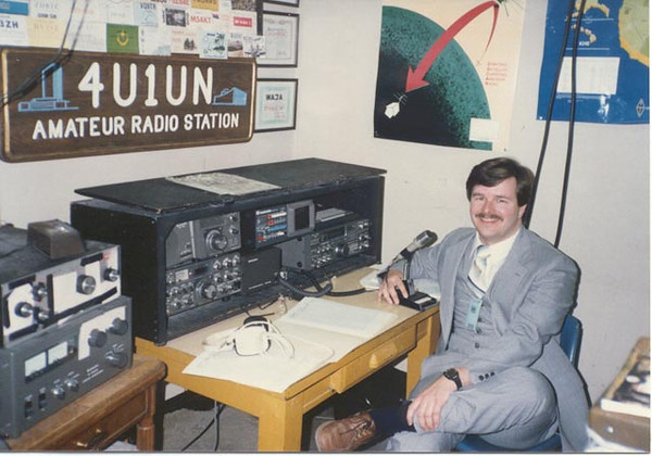 Operating 4U1UN at United Nations HQ in NYC circa 1986
