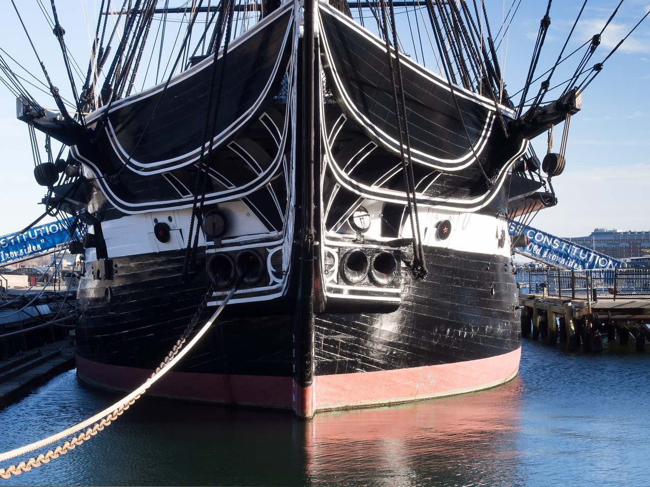 USS Constitution Front