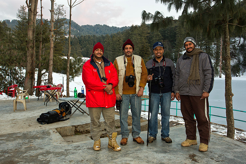 From right, Issa Alriyamii, Karrar Haidari, Tariq Sulemani and Sulaiman Alriyami. <br /> <br /> Benjosa lake, Azad kashmir.