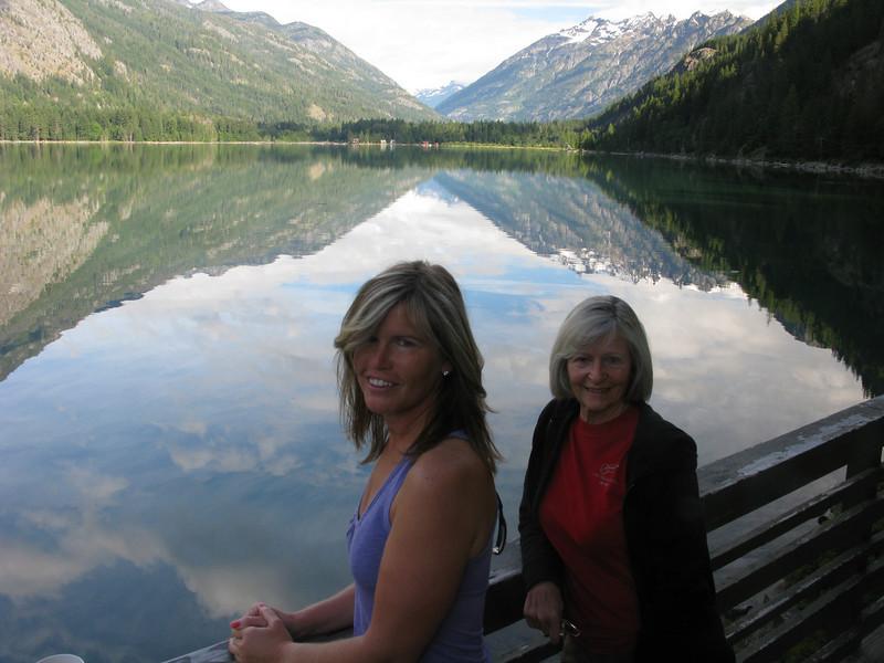 Mom and Lisa Stehekin Wa. late June