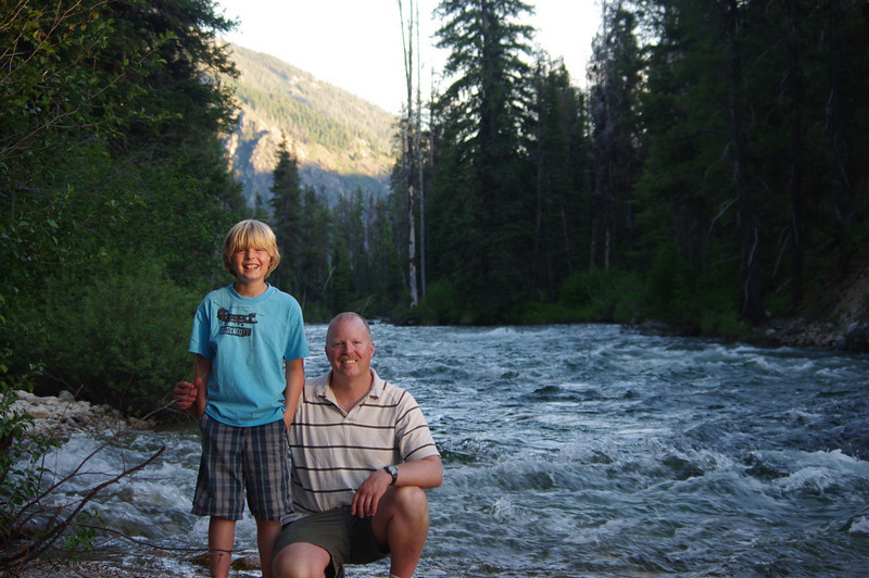Hanging out at a boys weekend up at Grandjean ID by the Payette river