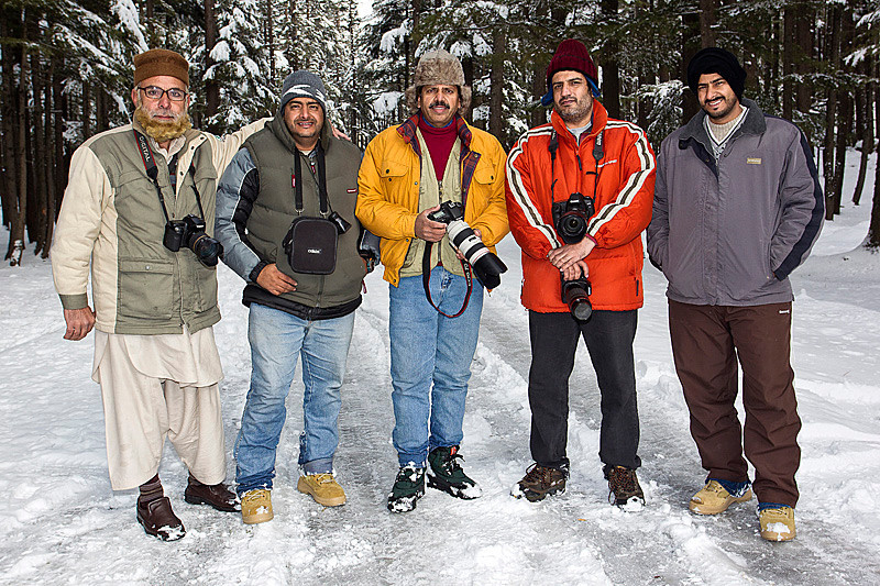 from left to right; Mujahid Qasmi, Sulaiman Alriyami, Ghulraiz Ghori, Tariq Sulemani, Issa Alriyami.