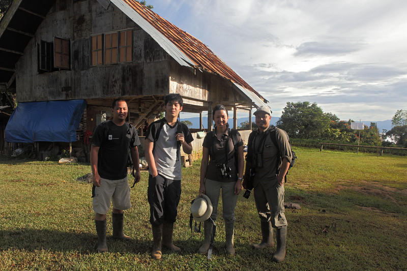 October 2010<br /> Mt. Kitanglad, Bukidnon<br /> <br /> Tonji, Franco, Sylvia, Nicky Icarangal in front of the lodge at Mt. Kitanglad.