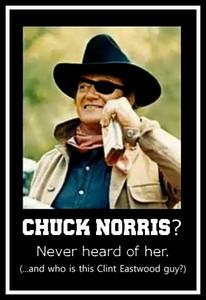 chuck norris--never heard of her.