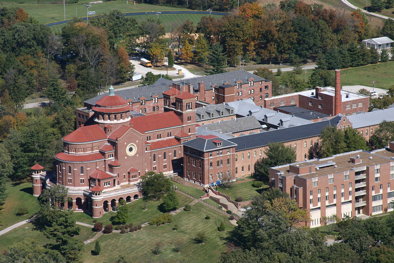 An aerial view of the monastery. Photo by Tom Peters.