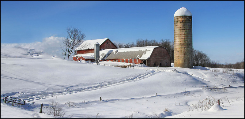 Winter of 2011 ---Leicester, VT.<br /> Working farm.