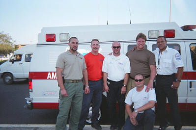 Working at Hurricane Katrina with Our Black Water Security in La. 2005