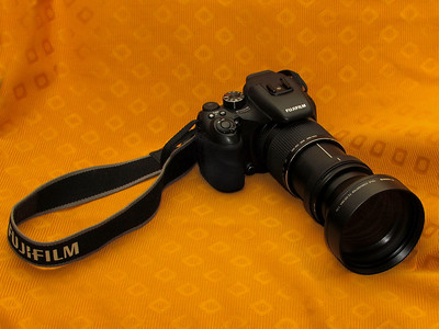 This is our Fuji S100fs with Canon DC58a teleconverter attached.